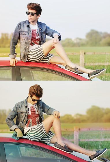 Ivam Kent - Topman Denim Jacket, Topman Tee, Topman Short, Topman Boat Shoes - LET'S TRY ONE MORE TIME -.-