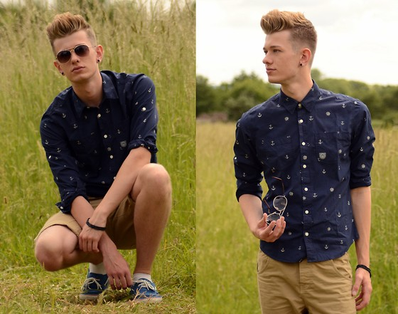 Rob Evans - Duck & Cover Shirt, H&M Sunglasses, River Island Shorts, Topman Boat Shoes - Home