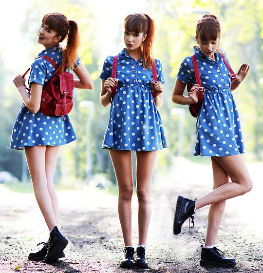 Ebba Zingmark - Zlz Dress, Rocket Dog Boots, From A Market In Beijing Backpack, Rapunzel Of Sweden Fake Bangs - BACK TO SCHOOL
