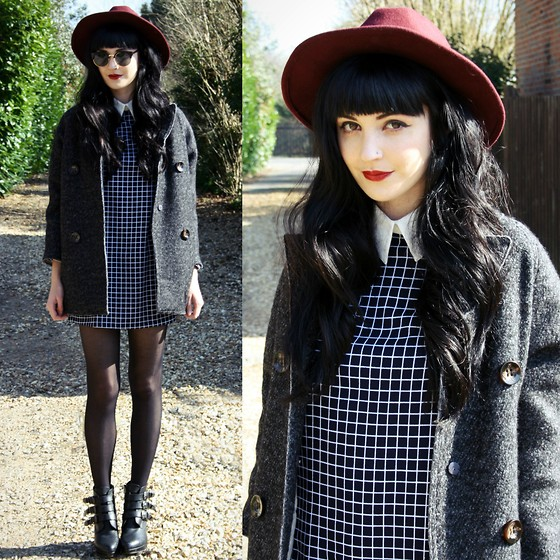 Kayleigh B - Wool Coat, Dress, Oasap Sunglasses - No Surprize