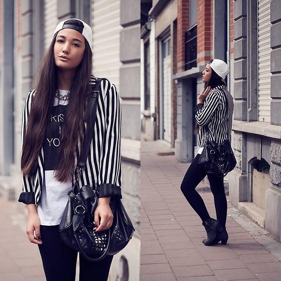 KaoriAnne Jolliffe - Primark Blazer, Zara Top, C&A Bag, Topshop Shoes - STRIPES
